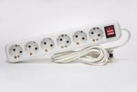 Сетевой фильтр РАДИСТ РВС16-006 (с кнопкой и подсветкой) 6 гнезд