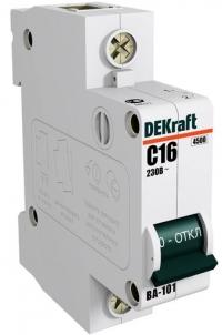 Автоматический выключатель ВА-101 С16 DEKraft